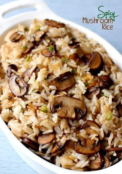 Spicy Mushroom Rice is a side that that might take over dinner!