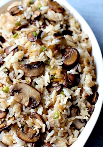 Spicy Mushroom Rice is an easy, amazing side dish to any meal!